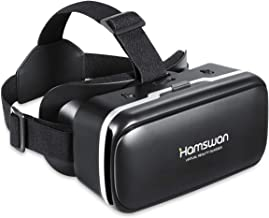 [نسخه جدید] هدفون واقعیت مجازی HAMSWAN 3D با طراحی منحصر به فرد و دکمه چند منظوره سازگار با تلفن های هوشمند در عرض 4.0-6.11 اینچ
