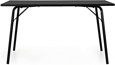 Tenzo DAXX Table à Manger Design en Panneaux de Particules laqués Anthracite/Noir Taille Unique