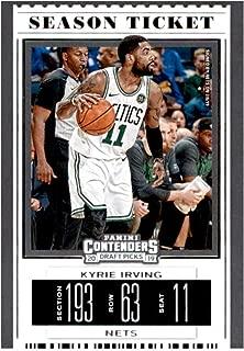 2019-20 Panini Contenders Draft Picks Season Ticket Variation Basketball #34 Kyrie Irving Brooklyn Nets Official NBA Trading Card From Panini America