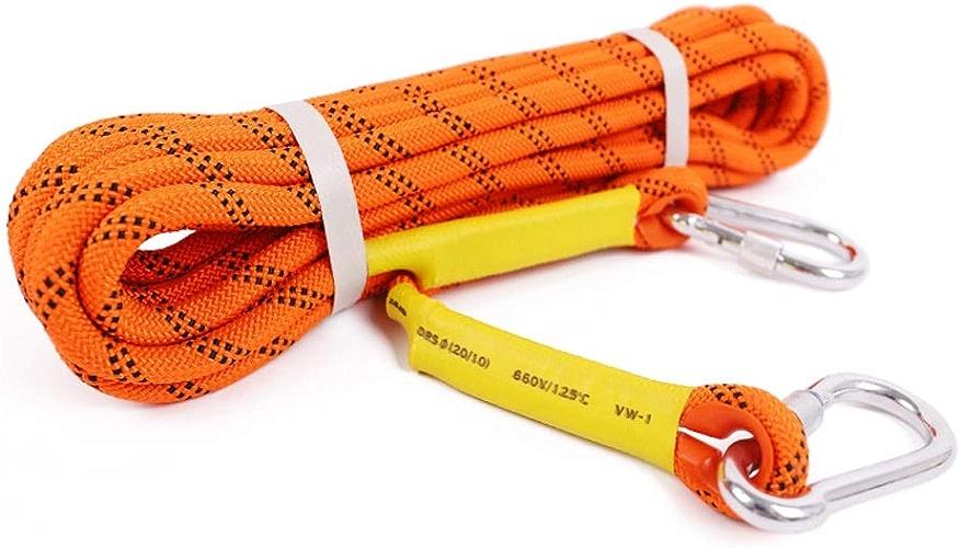 LYM-Rope Corde d'escalade, 10, 20, 30, 40, 50 Mètres, Diamètre 12 Mm Parachute De Sauvetage Extérieur pour échappement Orange (Taille   50m)