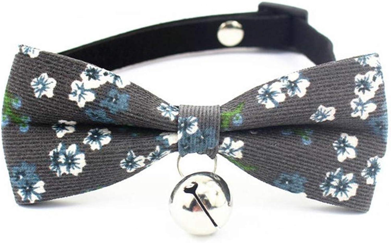 Dixinla Pet Collar Fur Butterfly Knot Bell Dog Rope Cat Tie