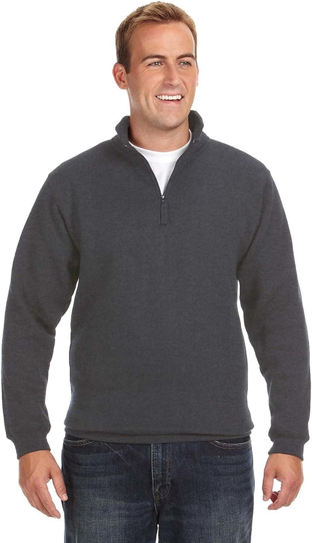 高い素材 J. America Heavyweight Fleece 送料無料/新品 Quarter-Zip Pullover Nylon