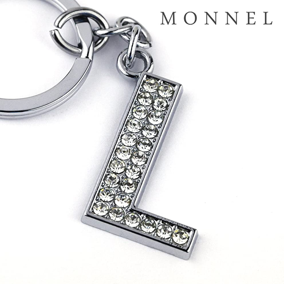 Z295 Bling Crystal Alphabet Initial DIY Letter L Keychain Key Ring for Pet Dog Cat Collar