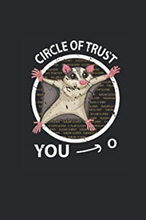"""Circle Of Trust: Sugar Gliders Notebook, Dotted Bullet (6"""" x 9"""" - 120 pages) ~ Animal Themed Notebook for Daily Journal, D..."""
