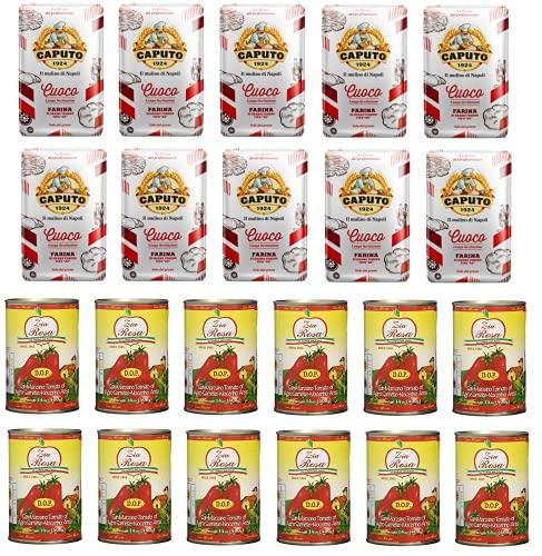 Testpaket Caputo Cuoco Pizzamehl Mehl ( 10 x 1Kg ) + Zia Rosa DOP Pomodoro San Marzano Tomate dosen ( 12 x 400g )