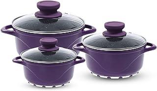 Wonderchef Excellence Aluminium Casserole Set (Purple)