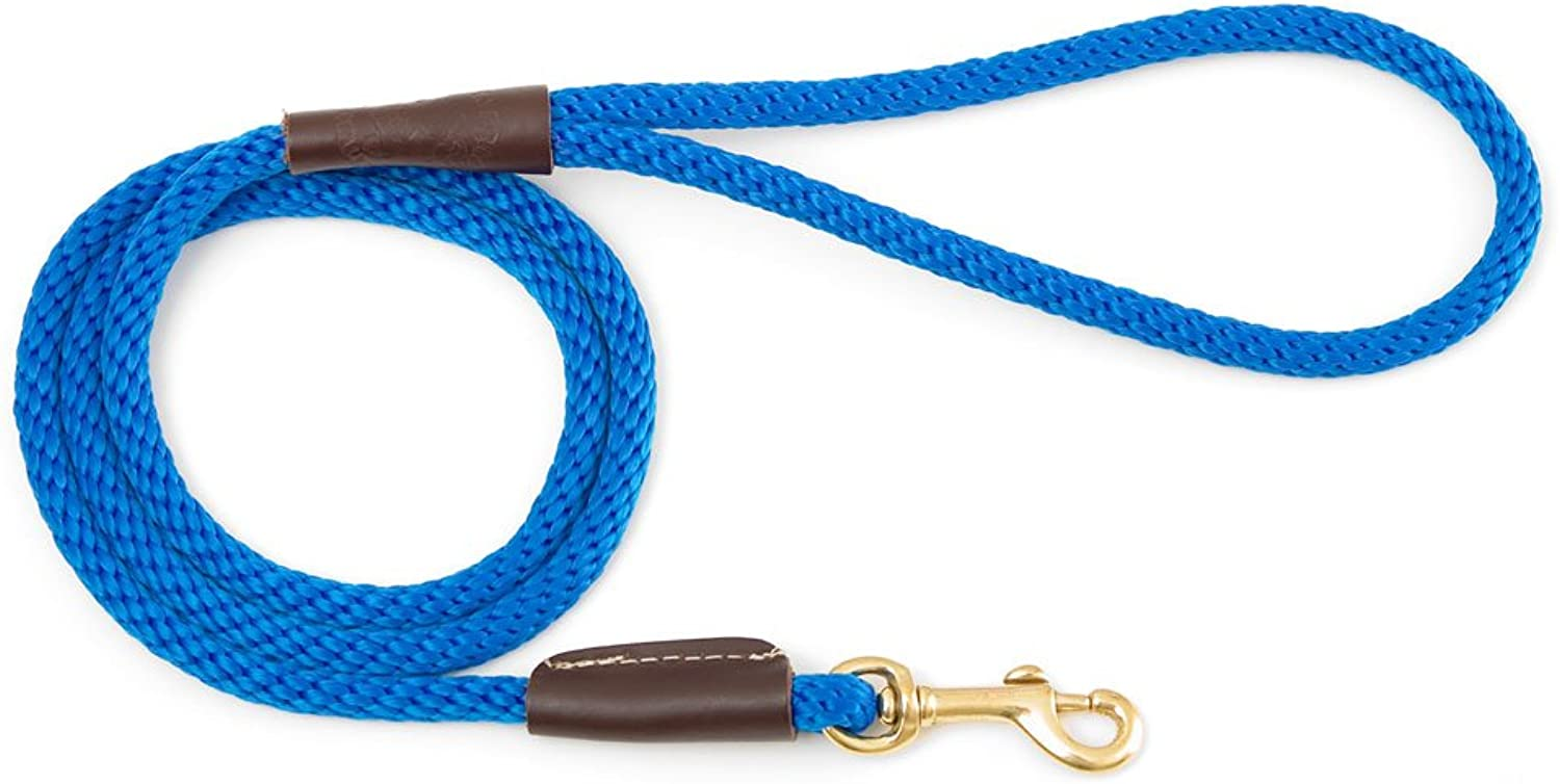 Mendota Products 3 8Inch by 6Feet Snap Leash, Small, bluee