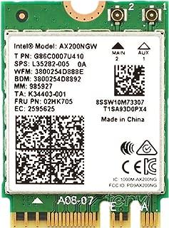 TINGTING Intel Wi-Fi 6 11AX AX200 WiFi Module Dual Band 2x2 MU-MIMO Bluetooth 5.0, M.2/NGFF (Gig+) Support Windows 10 64bit/ Google Chrome OS/Linux Gigabit Driver Setup Without CD ROM