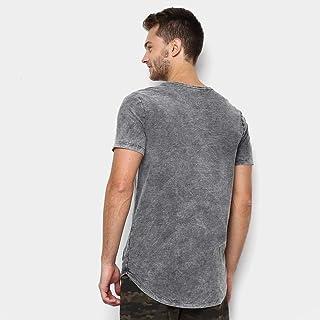 Camiseta Kohmar Flamê Lavada Alongada Masculina