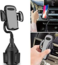 Cup Car Phone Holder,Portable Cup Phone Holder Car Mount with Universal Adjustable Gooseneck for iPhone Samsung Galaxy Google Pixel and More(Gray)