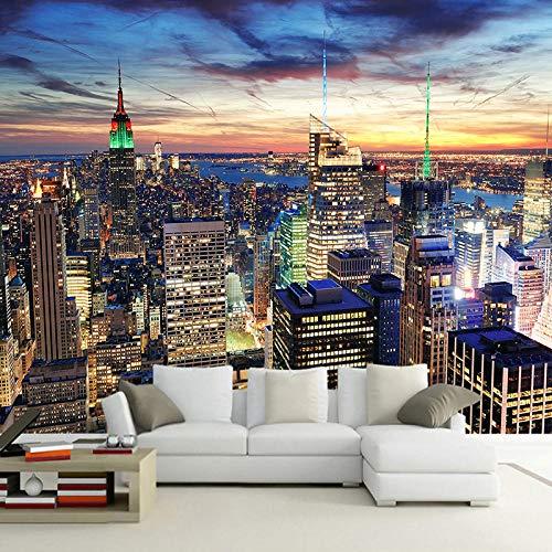Papel Tapiz 3D Mural Edificio Empire State, Nueva York Fotomural Papel Pintado Foto Personalizado Papel De Pared,ejido no tejido ,Decoración de Pared decorativos A300 x L210 cm
