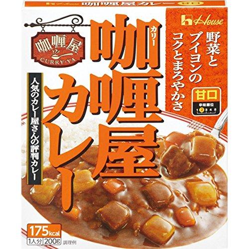 レトルトカレー 甘口 ハウス カリー屋 カレー甘口 200g 2個