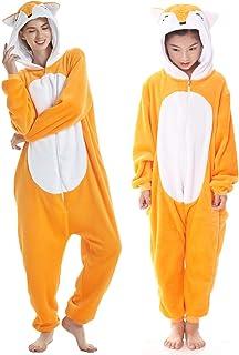 c0fa13dc6be64 Adulte et Enfant Unisexe Licorne Tigre Lion Renard Onesie Animaux Cosplay  Pyjamas Halloween Costume De Carnaval