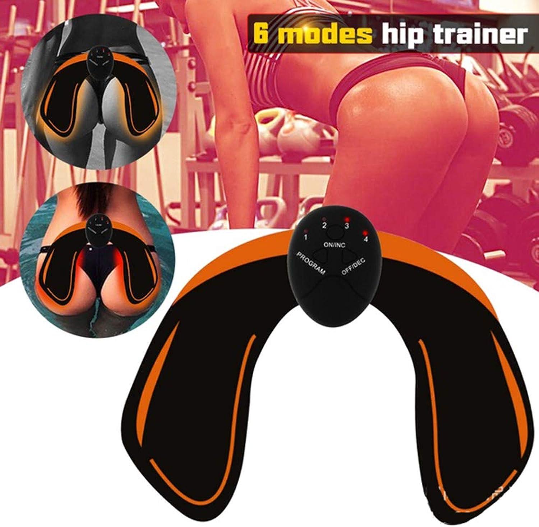 Smart EMS Wireless Hip Fitness Sticker Straight ABS Fitness Muscle Stimulator Hip Trainer Weight Loss Hip Muscle Massage Instrument Unisex
