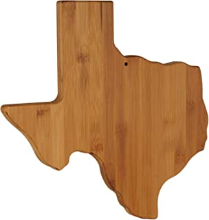 Texas State Shaped Bamboo Serving & Cutting Board, Texas Themed Gifts - Unique Wall decor for Home Office