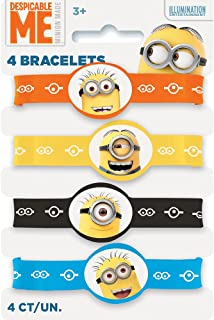 Despicable Me Minions Silicone Wristband Party Favors, 4ct
