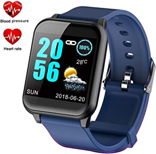"""Flyme Waterproof Fitness Tracker Watch, 1.3"""" Color Touch Screen Bluetooth Smart Watch with Heart Rate Blood Pressure Monitor, Pedometer Activity Tracker, Shake for Android & iOS"""