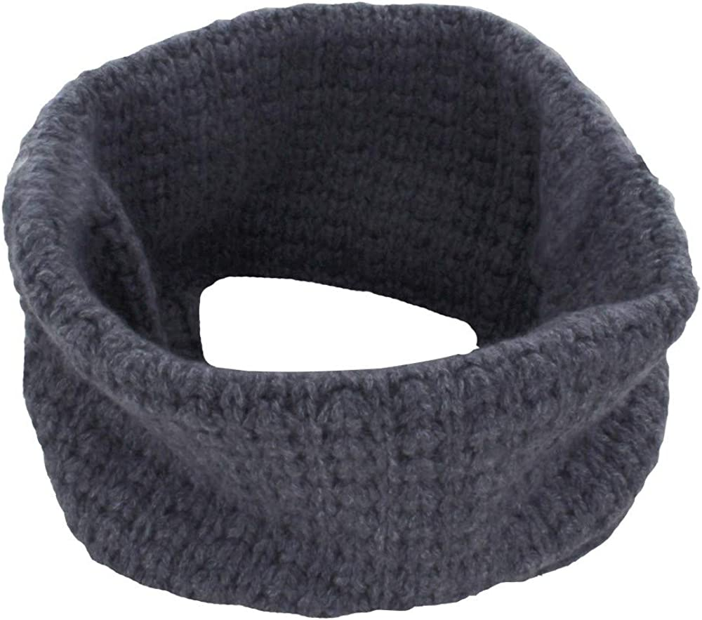 Womens 100% Cashmere Thick Collar Snood Scarf 3 Plys - Classics