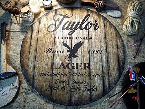 Personalisiertes Dekor Zeichen von alten Bierfässern, Weihnachtsgeschenk, Maßgefertigte Geschenke für Männer, Einzigartiger Ehemann, Papa, Bräutigam, Trauzeuge Geschenk