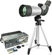 FEEMIC Upgrade 20-60x60 Waterproof Spotting Scope with Tripod, BAK4-45 Degree Angled Big Eyepiece(24mm), Optics Zoom 47-23.5M/1000M Spotting Scope for Target Shooting Bird Watching Hunting Wildlife
