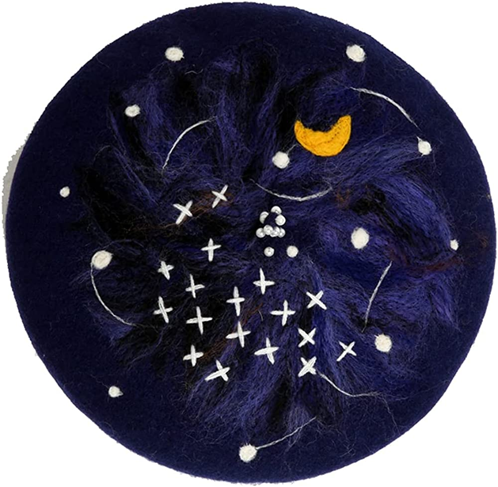 Night of The Starry Sky All Match and Free shipping Sale special price on posting reviews Wool Winter in Autumn Pain