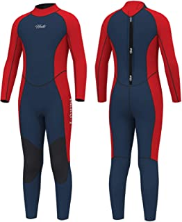 Hevto Wetsuits Kids and Youth Coral 3mm Neoprene Full Suits Surfing Swimming Long Sleeve for Water Sports