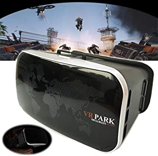Agkey VR 3D Glasses Virtual Reality Movies for 3D Movies Compatible with 4.0-6.0 Inches Screen for iPhone Xs 8 Plus 7 Plus 6S Samsung S10e S9 S8 LG Huawei HTC More Smartphones (V4)