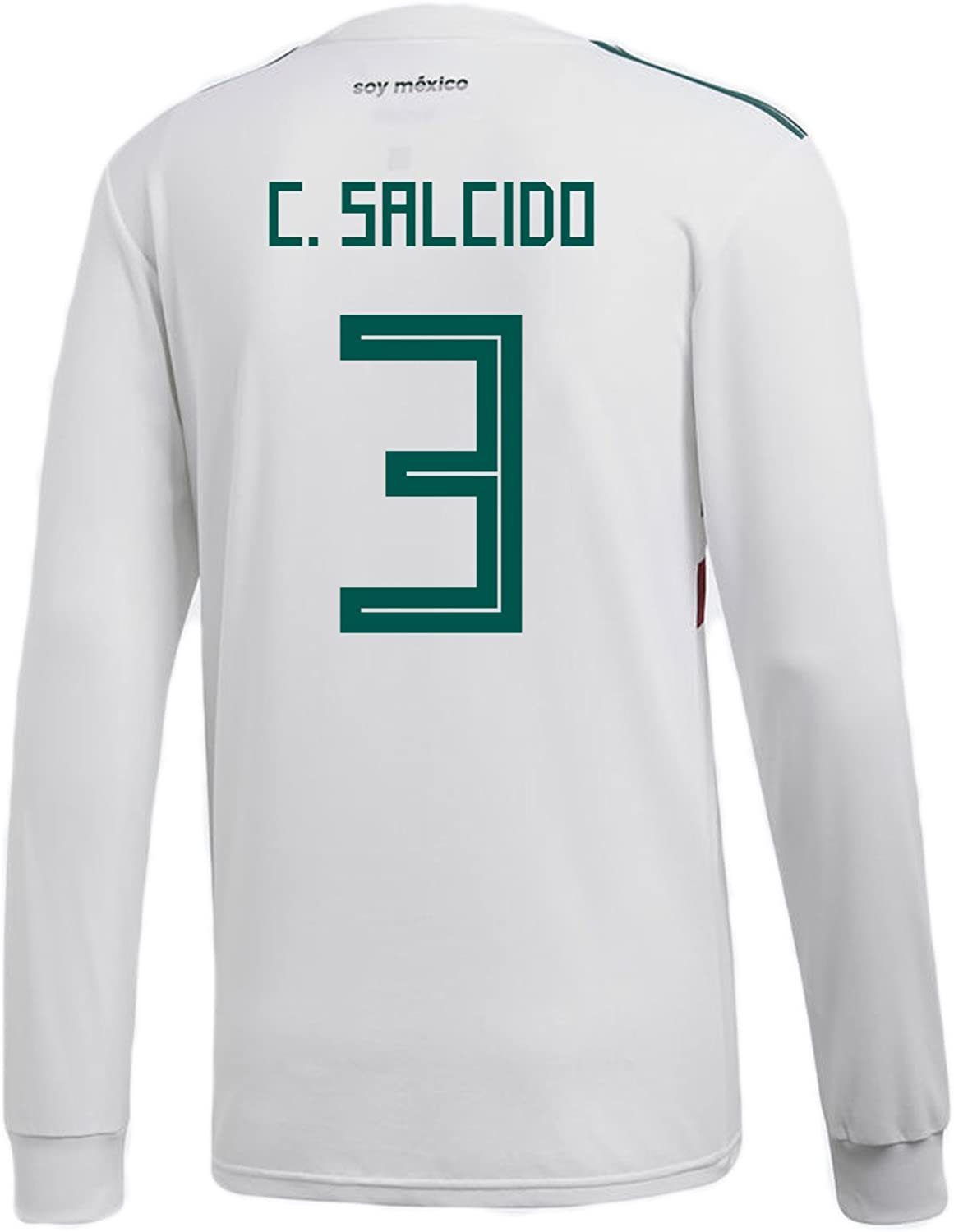 f724f88aedb0 C. SALCIDO Mexico Away Men's Long Sleeve Soccer Jersey World Cup ...