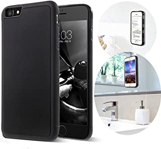 Aukoo Anti-Gravity Selfie Case for iPhone 7 with Magical Nano Sticky Can Stick to Glass, Mirrors, whiteboards, Metal, Kitchen cabinets or Tile, car GPS, and Most Smooth, Flat Surfaces Brass Knuckles