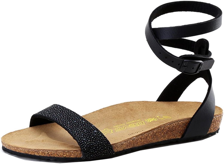 MEbox Girls Roman Open Toe Footbed Flat Sandal