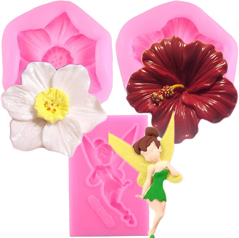 Mujiang Flower And Flower Fairy Silicone Fondant Mold Chocolate Candy Mold