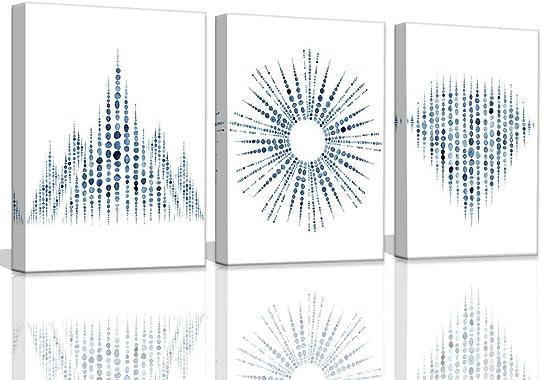 Blue Wall Art Decor Bathroom Artwork for Home