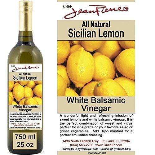 "Traditional Barrel aged 12 years ""Sicilian Lemon White Balsamic"" 100% ALL NATURAL Vinegar 750ml (25oz)"