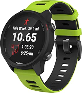 ANCOOL Compatible with Vivoactive 3 Watch Band,Soft Silicone 20mm Quick Release Replacement Sport Strap for Garmin Vivoactive 3/Forerunner 645/Samsung Galaxy 42mm Smart Watch -Green