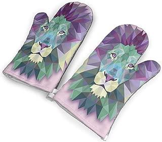 YUHUJUKU Lion Heat Insulation Gloves, A Pair of Gloves, A Heat Insulation Mat.(1.6 Inches Thick)