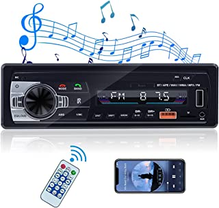 $36 » Multimedia Car Stereo Single Din Radios Bluetooth Audio Receiver and Hands-Free Calling FM Radio with USB, Aux-in Connecti...