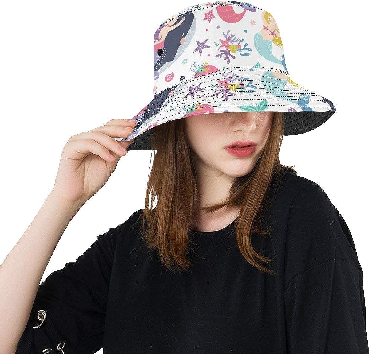 Boy Sun 4 years warranty Hat Mermaid Princess Beauty Unisex S Summer Fishing Today's only Girl