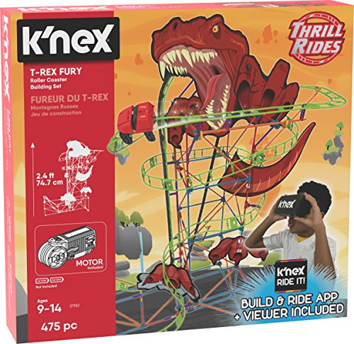 K'NEX - T-REX Fury Rollercoaster- Bau- und Konstruktionsspielzeug