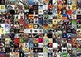 Greatest Rock Album di All Time Jigsaw Puzzle 1000 Pezzi per Adulti, Top Rock Band Logo 1000 Puzzle Regalo per...