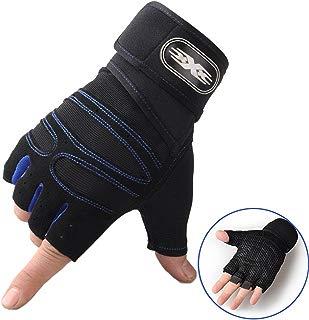 Guantes deportivos antideslizantes de medio dedo, Guantes resistentes transpirables y cómodos para deportes al aire libre, Ciclismo Levantamiento de pesas