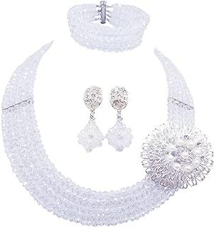 5 Rows Fashion Lady Jewellery Multicolor Crystal Nigerian Bridel Wedding African Bead Jewelry Sets