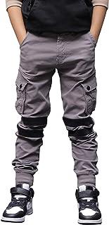 CAMLAKEE Pantalones para Niños, Pantalón Cargo con Cintura Ajustable