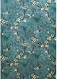 Carta da parati adesiva in vinile con motivo floreale, autoadesiva, per mobili, per pareti, armadi, cassettiere, 45 cm x 5 m
