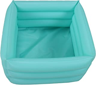 ObboMed HB-1700 Folding Inflatable Portable Travel Spa Foot care bath Basin – Inflated size: 42 x 42 x 18cm/16.5(L) x 16.5(W) x 7.0(H) inches – 16.2L/4.2 Gallons Capacity - Relax Soak Bucket