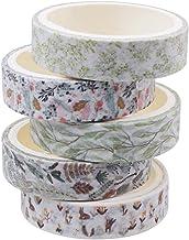 Fantye 5 Rolls Washi Tapes Set, Masking Decorative Tape Vintage Floral Washi Tape Craft Decorative Tape for Scrapbook Jour...