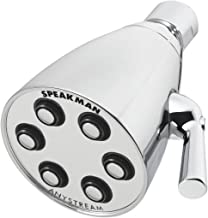 Speakman S-2252 Signature Icon Anystream Adjustable High Pressure Shower Head-1.75 GPM Solid Brass Replacement Bathroom Showerhead, Polished Chrome, 2.5