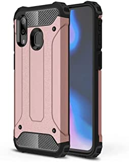 PICKQIU Case for Nokia 8.1, Heavy Duty Case,Shockproof Tough Armour Military Metal Case 360 Full Body Protective Case Cover for Nokia 8.1 Smart phone -Rose gold