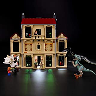 BRIKSMAX Led Lighting Kit for Indoraptor Rampage at Lockwood Estate - Compatible with Lego 75930 Building Blocks Model- Not Include The Lego Set
