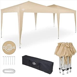 Deuba® Pavillon Capri 3x6m | wasserdicht Pop-Up inkl. Tasche UV-Schutz 50+ | Faltpavillon Gartenzelt Partyzelt Beige