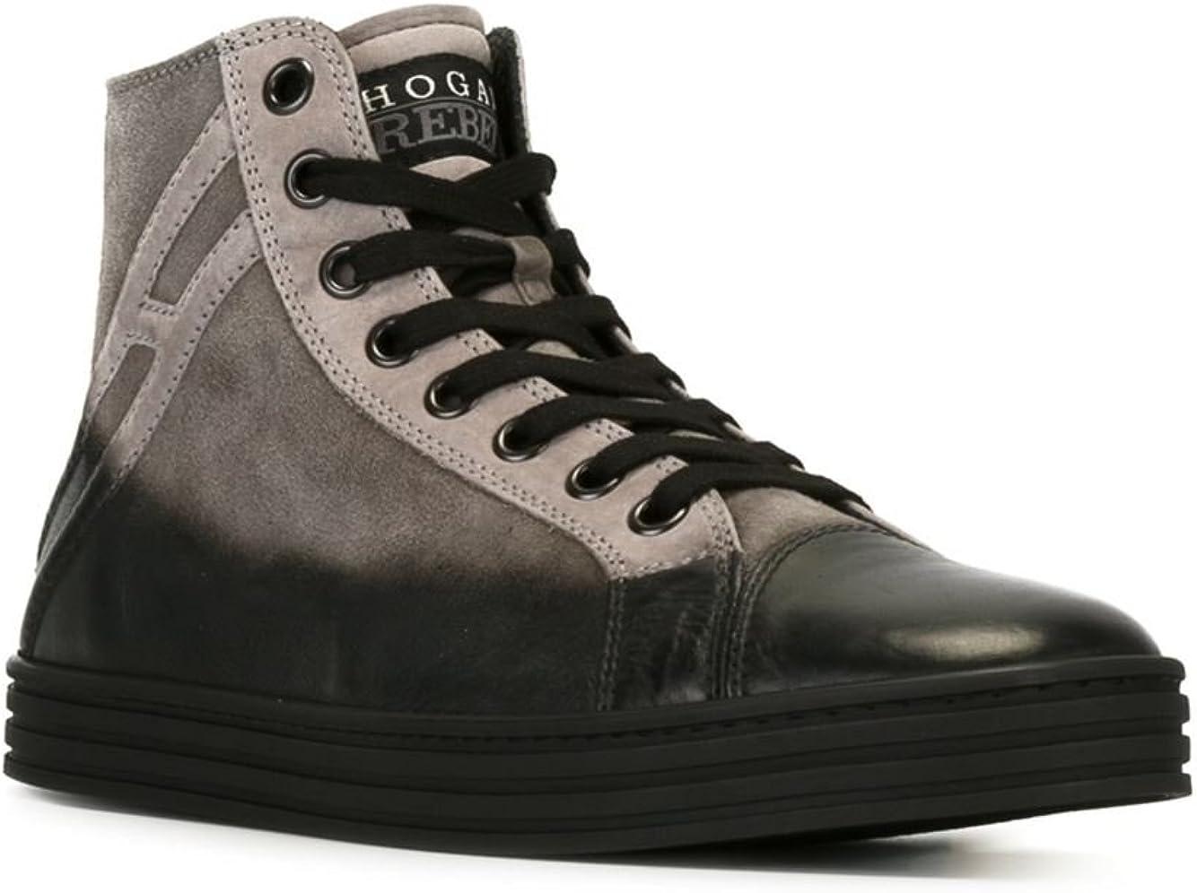 Hogan Rebel Hi Top Sneakers Uomo Hxm14109495c7u4830 Camoscio ...
